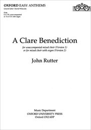 Cover for   A Clare Benediction