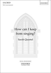 Cover for   How can I keep from singing?