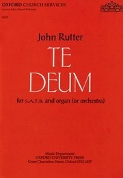 Cover for   Te Deum