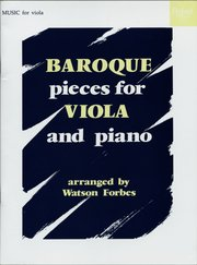 Cover for   Baroque Pieces for Viola and Piano