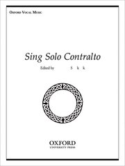 Cover for   Sing Solo Contralto