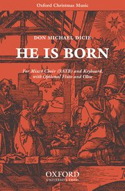 Cover for   He is born
