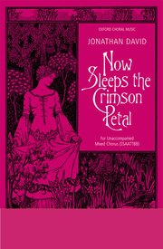 Cover for   Now sleeps the crimson petal