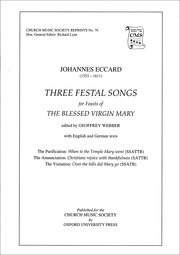 Cover for   Three Festal Songs