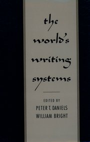 Cover for   The Worlds Writing Systems