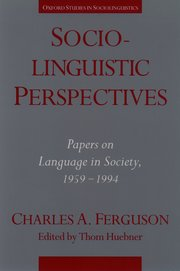 Cover for   Sociolinguistic Perspectives