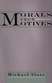 Cover for   Morals from Motives