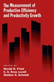 Cover for   The Measurement of Productive Efficiency and Productivity Growth