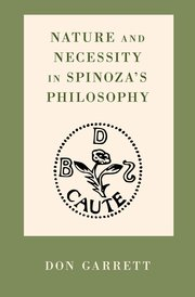 Cover for   Nature and Necessity in Spinozas Philosophy