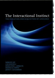 Cover for   The Interactional Instinct