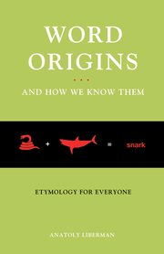 Cover for   Word Origins And How We Know Them