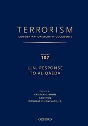 Cover for   TERRORISM: Commentary on Security Documents Volume 107