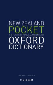 Cover for   New Zealand Pocket Oxford  Dictionary