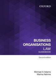 Cover for   Business Organisations Law Guidebook