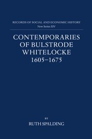 Cover for   Contemporaries of Bulstrode Whitelocke, 1605-1675