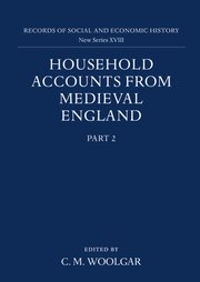 Cover for   Household Accounts from Medieval England