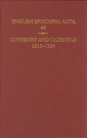 Cover for   English Episcopal Acta, 43