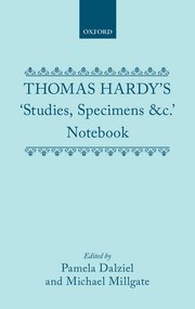 Cover for   Thomas Hardys Studies, Specimens &c. Notebook