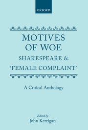 Cover for   Motives of Woe
