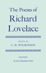 Cover for   Poems of Richard Lovelace