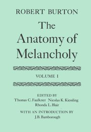 Anatomy of melancholy summary