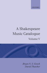 Cover for   A Shakespeare Music Catalogue