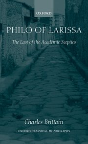 Cover for   Philo of Larissa