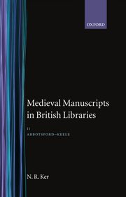 Cover for   Medieval Manuscripts in British Libraries