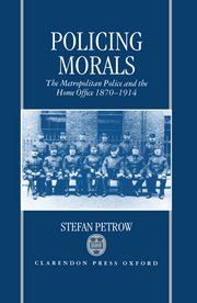 Cover for   Policing Morals