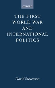 Cover for   The First World War and International Politics