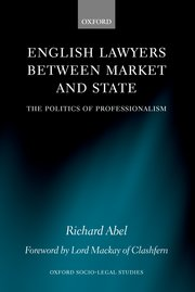 Cover for   English Lawyers between Market and State