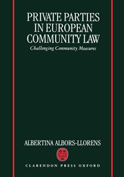 Cover for   Private Parties in European Community Law