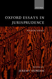 oxford essays in jurisprudence jeremy horder oxford university  cover for oxford essays in jurisprudence
