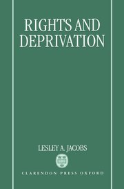 Cover for   Rights and Deprivation