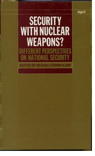 Cover for   Security with Nuclear Weapons?