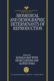 Cover for   Biomedical and Demographic Determinants of Reproduction
