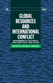 Cover for   Global Resources and International Conflict
