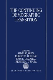 Cover for   The Continuing Demographic Transition