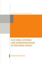 Cover for   Electoral Systems and Democratization in Southern Africa