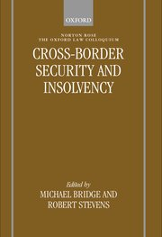 Cover for   Cross-border Security and Insolvency