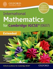 Cover for   International Maths for Cambridge IGCSE Student Book
