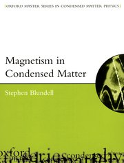 Cover for   Magnetism in Condensed Matter