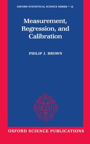 Cover for   Measurement, Regression, and Calibration