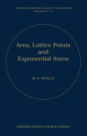 Cover for   Area, Lattice Points, and Exponential Sums