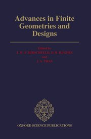 Cover for   Advances in Finite Geometries and Designs