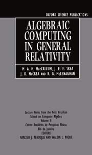 Cover for   Algebraic Computing in General Relativity
