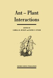 Cover for   Ant-Plant Interactions