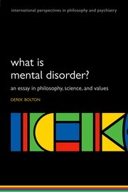 Cover for   What is Mental Disorder?