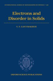 Cover for   Electrons and Disorder in Solids