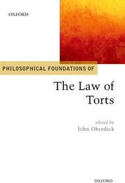Cover for   Philosophical Foundations of the Law of Torts